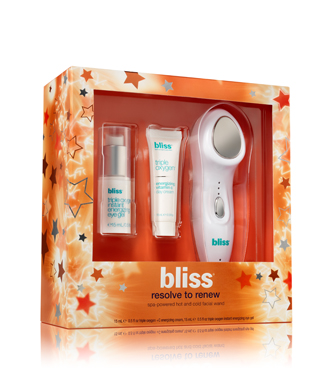 bliss resolve to renew climate control hot and cold facial wand gift set