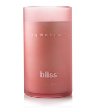 bliss grapefruit & currant candle 18.5 oz