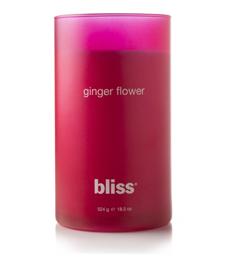 bliss ginger flower candle 18.5 oz