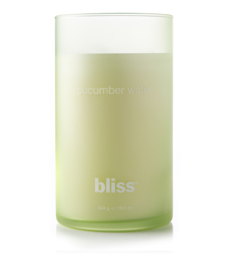 bliss cucumber water candle 18.5 oz