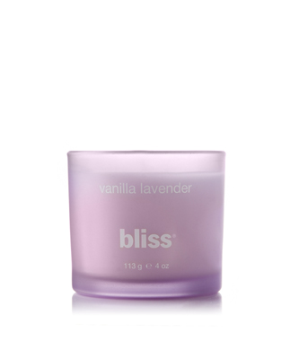 bliss vanilla lavender candle