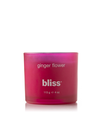 bliss ginger flower candle 4 oz