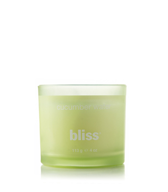 bliss cucumber water candle