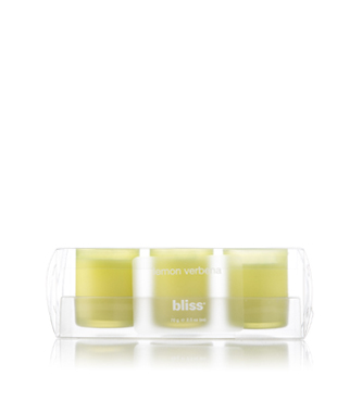 bliss lemon verbena votive candle trio