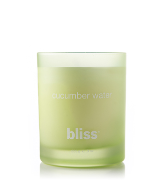 bliss cucumber water candle 9 oz