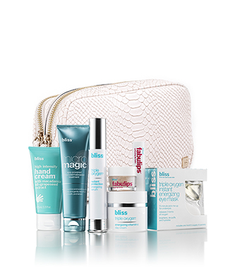 bliss x hudson+bleecker winter wonders skincare set