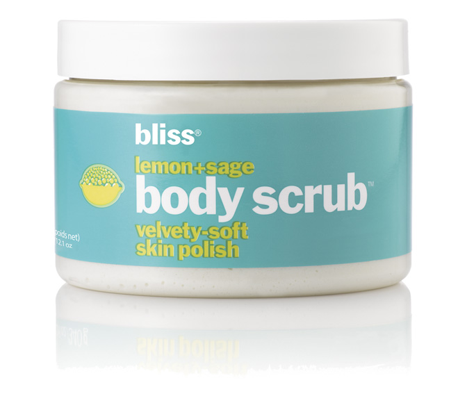 bliss lemon  sage body scrub