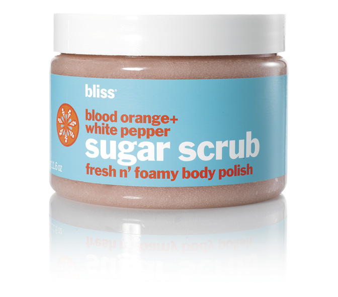 bliss blood orangewhite pepper sugar scrub