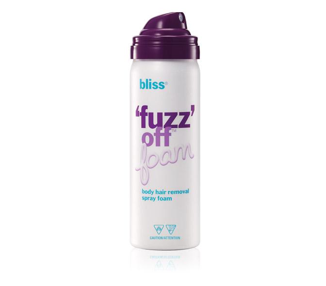 bliss fuzz off foam travel size