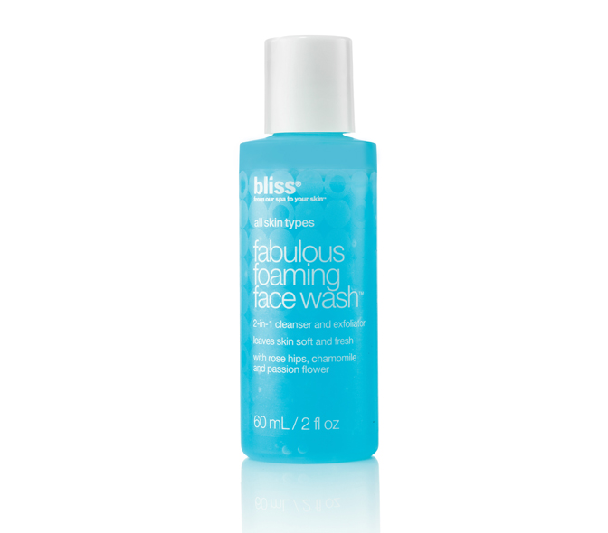 bliss fabulous foaming face wash travel size 33847