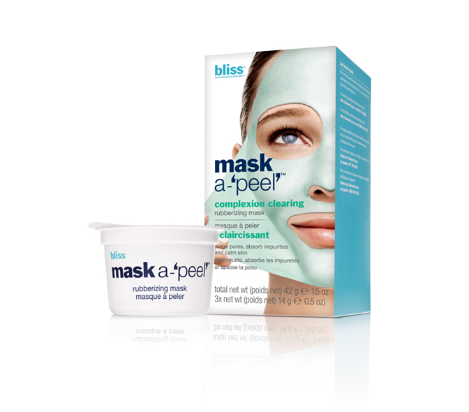 bliss mask a-'peel' complexion clearing rubberizing mask (3 pack)