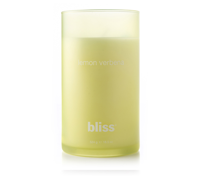 bliss lemon verbena candle 18.5 oz