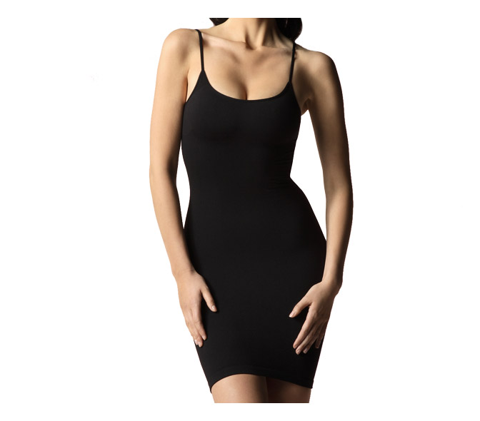 cass shaping cami dress size ML black