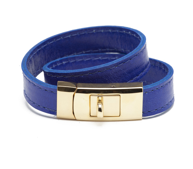 cc skye double wrap portico bracelet blue  gold