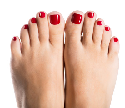 re-shellac removal and re-application pedicure