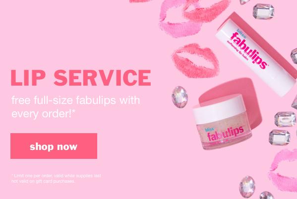 Free lip scrub with every order