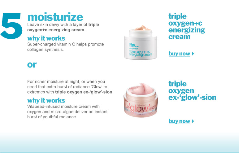 bliss triple oxygen™ + C energizing cream