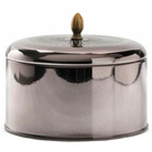 illume woodfire metallic knob tin