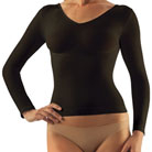 farmacell® long-sleeve cellulite smoothing shirt (black)
