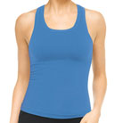 spanx active ribbed racerback top (blue)