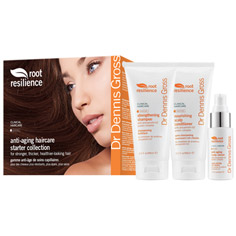 dr. dennis gross root resilience anti-aging haircare starter collection