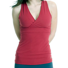 aziam athena v-neck sport top (red)