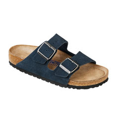 birkenstock arizona soft footbed sandal (denim)
