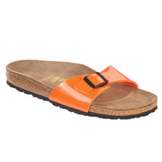 birkenstock madrid sandal (orange patent)