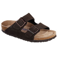 birkenstock arizona soft footbed sandal (mocha)