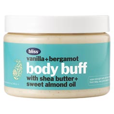 bliss vanilla+bergamot body buff 12 oz