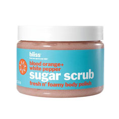 bliss blood orange+white pepper sugar scrub 12 oz