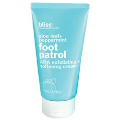 bliss foot patrol exfoliating & softening cream 2.5oz