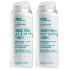 bliss steep clean pore purifying mask set of 2