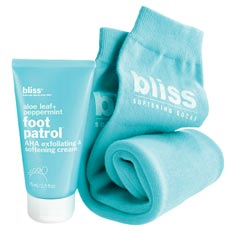 bliss softening socks + foot patrol set