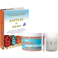 bliss, nest + gretchen rubin limited edition happier at home set