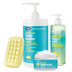bliss lemon + sage body care bundle
