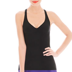 cass invisibellas® amp top x back (black)