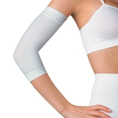 shape & slim tone activ'wear sleeves (white)