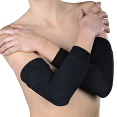 shape & slim tone activ'wear sleeves (black)