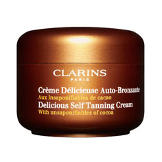 clarins delicious self tanning cream