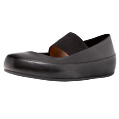 FitFlop dué™ m-j black leather