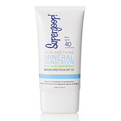 supergoop! SPF 40 skin soothing mineral sunscreen 2.4 oz