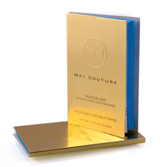 mai couture salicylic acid blotting paper