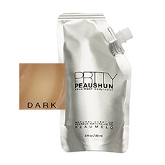 prtty peaushun skin tight body lotion travel size (dark)