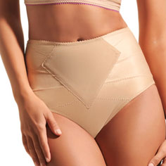 dMondaine lana high-waist brief (nude)