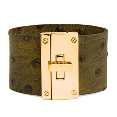 cc skye green ostrich resort cuff