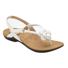 dr. weil integrative footwear dhyana sandal (white)
