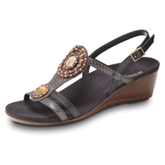 orthaheel kelly sandal (black)